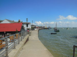 The Old Leigh waterfront at high tide