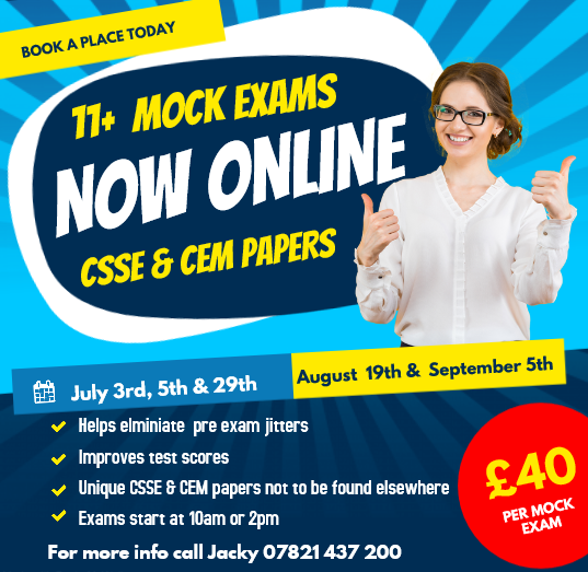 11 plus mock exams southend and chelmsford CSSE and CEM Online